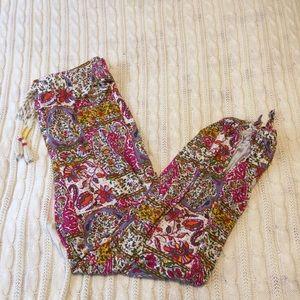 Anthropologie Batik Floral Jogger Pants